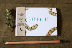 Native California gopher snake watercolor greeting card