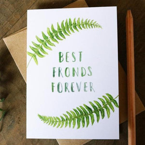Native California sword fronds watercolor greeting card