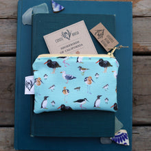 Blue Shorebirds and Friends Zipper Pouch Coin Size Purse Organizer