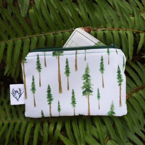 Redwood Forest Coin Purse, Zipper Pouch, Organizer