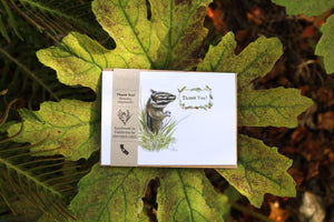 Native California Sonoma chipmunk watercolor thank you card