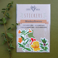 Monkeyflower Stickers: Sticky Monkeyflower, Seep Monkeyflower, Calico Monkeyflower, Island Bush Monkeyflower