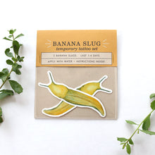 Banana Slug: Two Temporary Tattoos