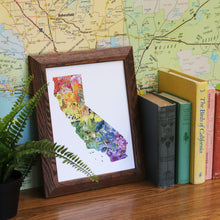 California Diversity watercolor painting art print native California framed 8x10