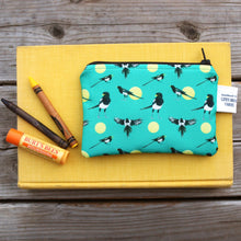 Yellow Billed Magpie Coin Purse, Small Organizer, Storage Pouch