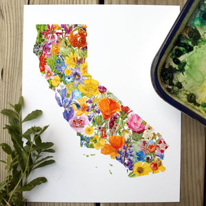 California Wildflowers 8x10 Poster - Native California Wildflowers, Native Flora