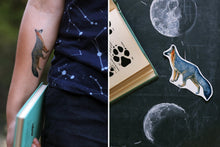 Gray Fox: Two Temporary Tattoos