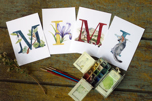 California Alphabet Letter Prints