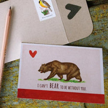 Native California grizzly state flag watercolor love card