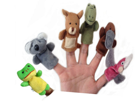 Animal Finger Puppets Plush Educational Toy
