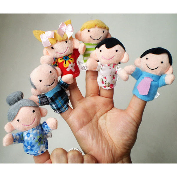 6Pcs Finger Puppets Cloth Doll