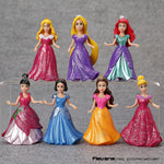 Princess  Action Figure Doll  7pcs