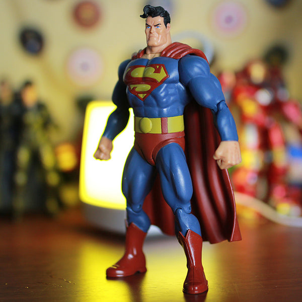 "DC Superheros Super Hero Fat Superman Movable PVC Action Figures Collectible Model Toy Kids Gift 7"" 18cm KT227"
