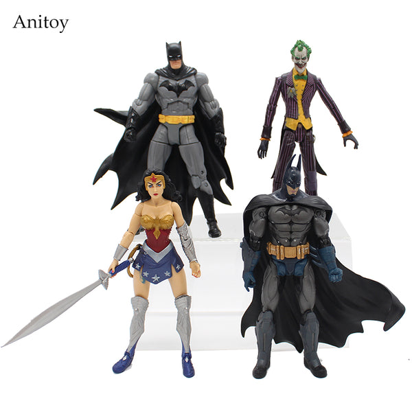 "DC Heroes Batman Joker Wonder Woman PVC Action Figure Kids Toys Gift for Children 7"" 18cm KT1776"