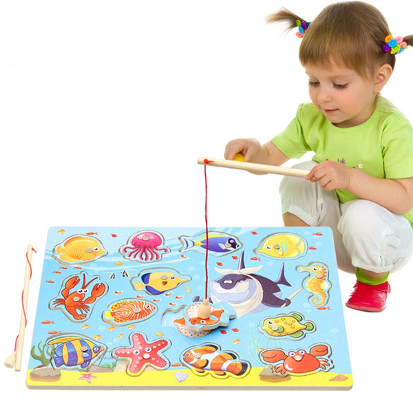 Wooden Magnetic Fishing Toy
