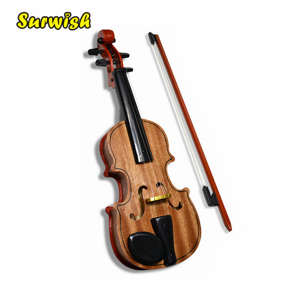 Wooden Violin Educational Musical Instrument with Base Bow