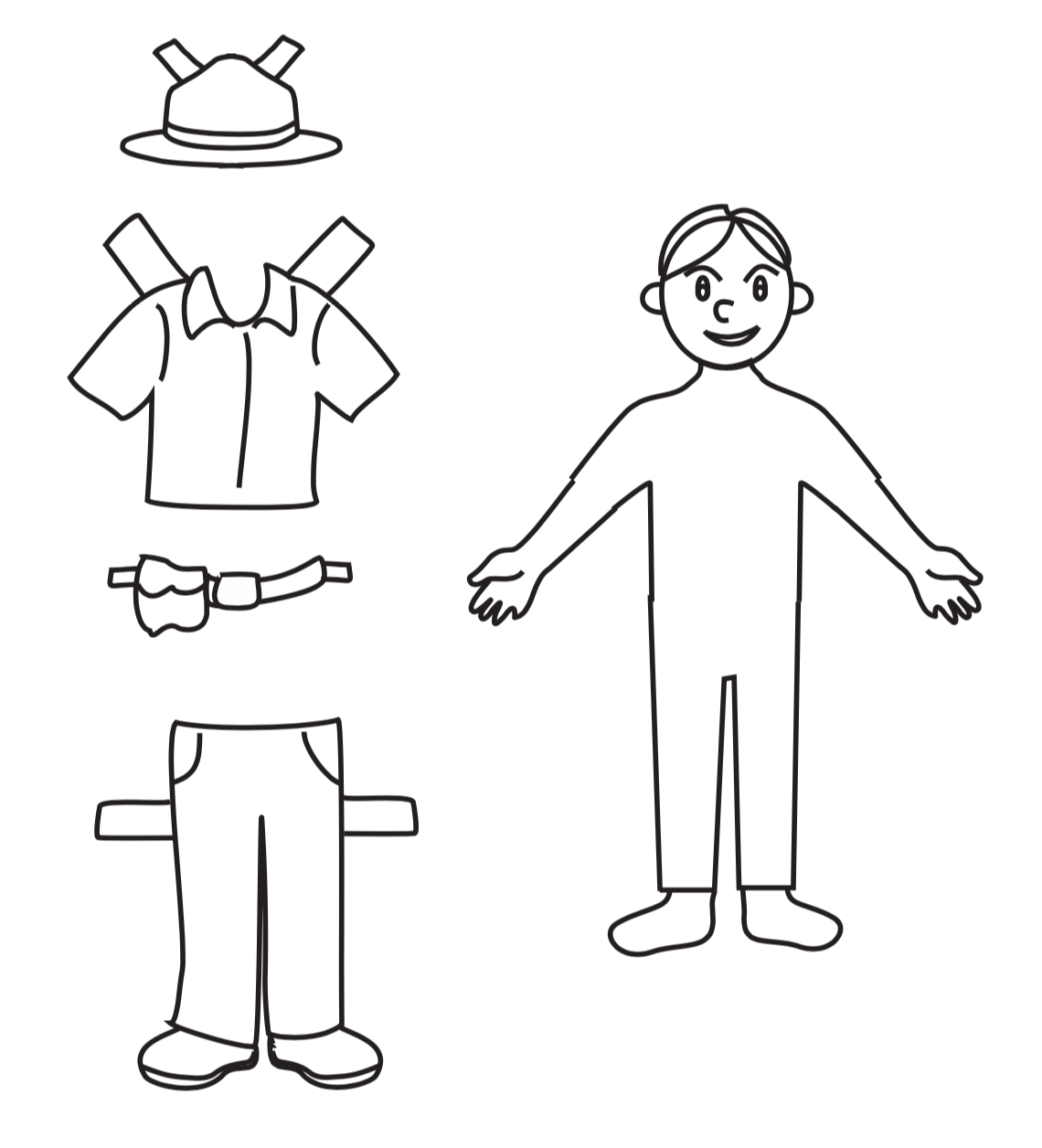park range paper doll for kids