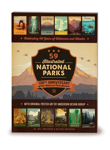 collection of national park postcards