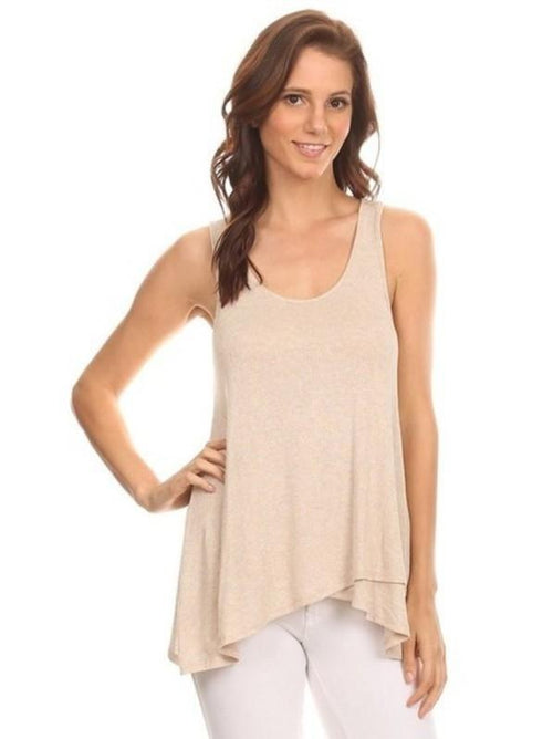 THE GRETA SLEEVELES RACER BACK LAYERING TANK