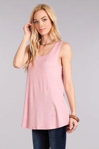 THE ERIN BASIC TUNIC TANKS - 5 COLORS