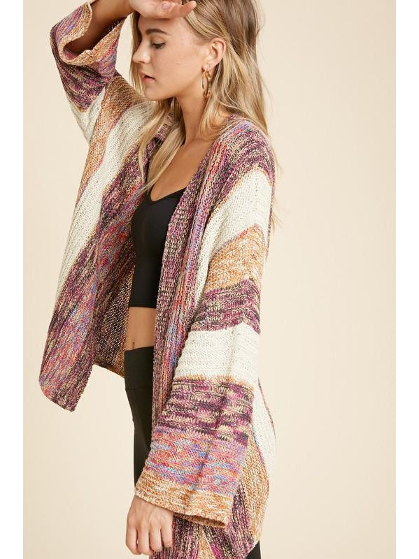 THE JANET BOHO MULTI PANELED CARDIGAN