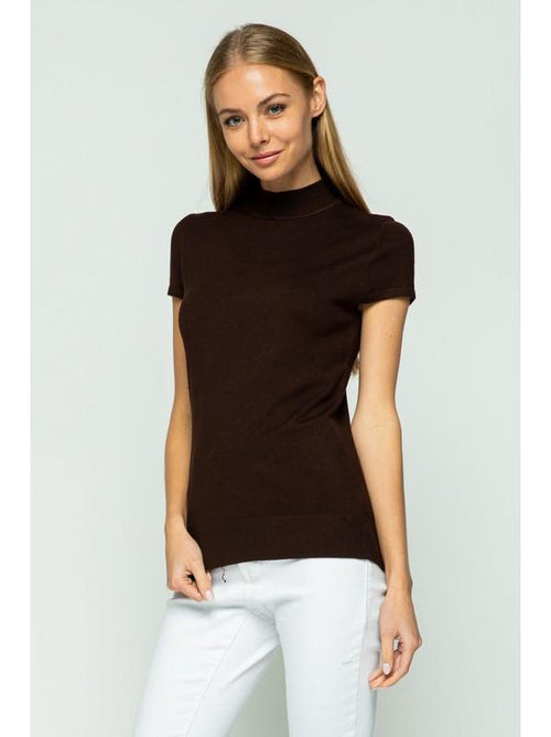 THE BECCA MOCK NECK S/S SWEATER