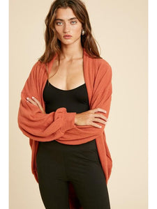 THE CAIT COCOON SHAWL CARDIGANS - 2 colors