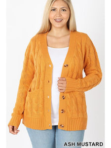THE GERI CABLE KNIT CARDIGANS - 2 colors