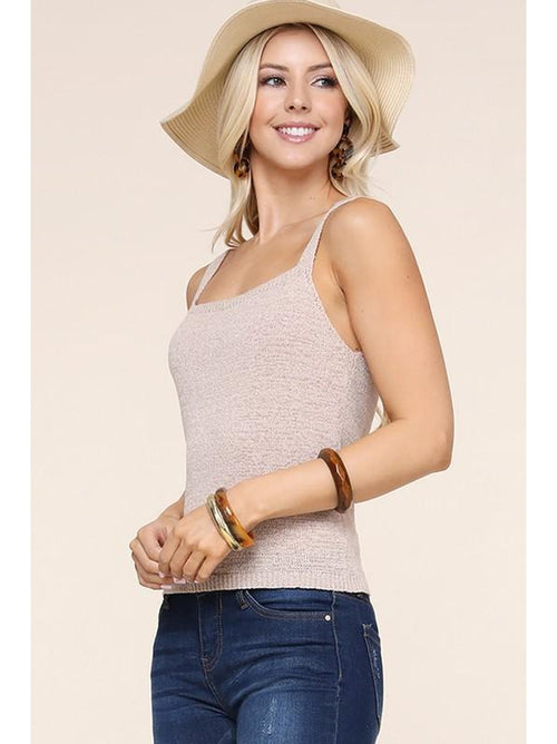 THE KATIE FITTED SQUARE NECK TANK TOP