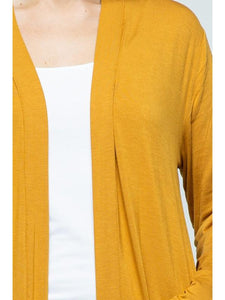 THE JILL OPEN POCKET CARDIGANS - 3 colors