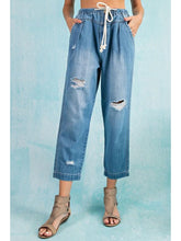 Load image into Gallery viewer, THE BECCA BOYFRIEND BAGGY CROPPED DENIM - med wash