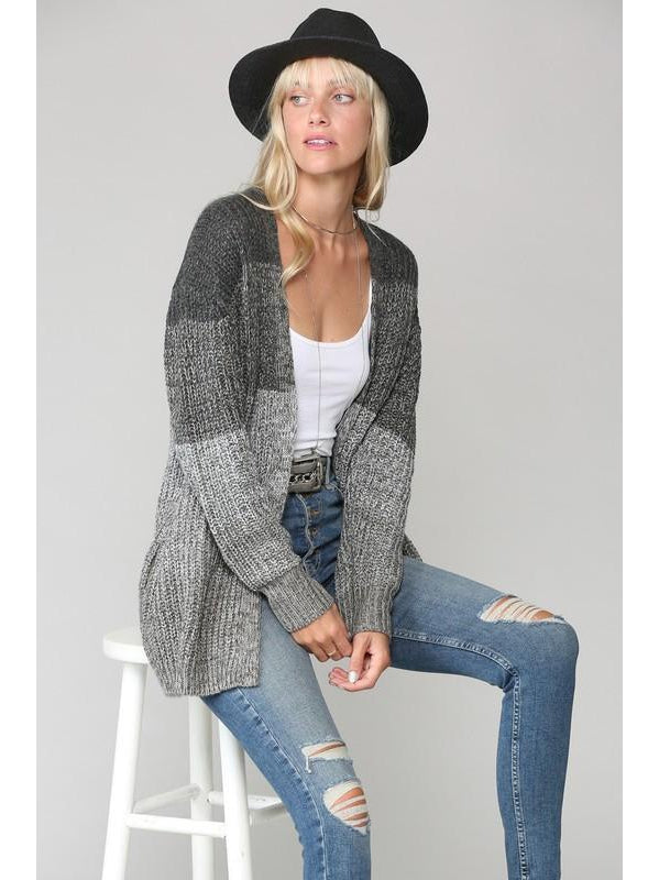 THE BECKY GRADIENT COZY CARDIGAN