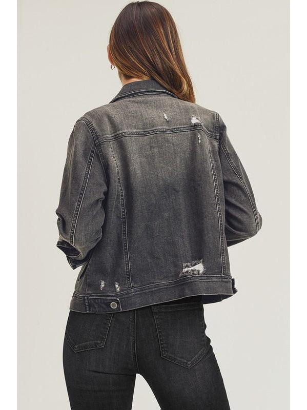 THE MELISSA VINTAGE GREY DENIM JACKET