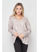 Load image into Gallery viewer, THE CHERYL ANIMAL PRINT V NECK TOP
