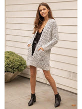 Load image into Gallery viewer, THE BECKA TWO TONE NUBBY TEXTURED CARDI