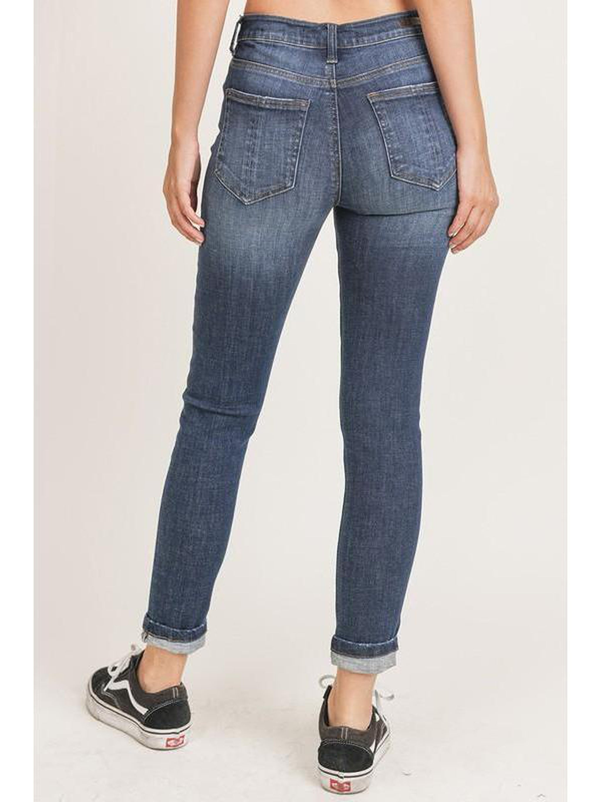 THE PEGGY MID RISE SKINNY BASIC ANKLE DENIM