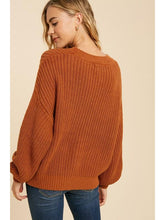 Load image into Gallery viewer, THE JOYCE COTTON BLEND KNIT SWEATER - 2 colors