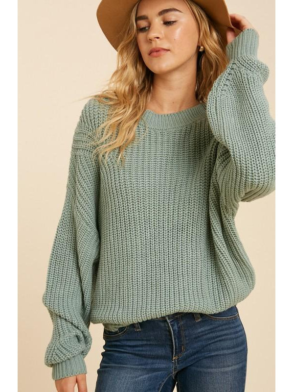 THE JOYCE COTTON BLEND KNIT SWEATER - 2 colors