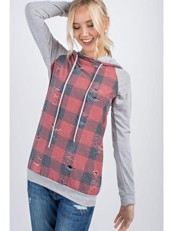 THE NANCY BUFFALO PLAID HOODIE