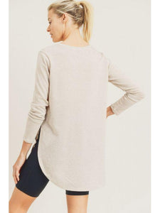 THE LOLA LONG SLEEVE FLOW TOP - 2 colors