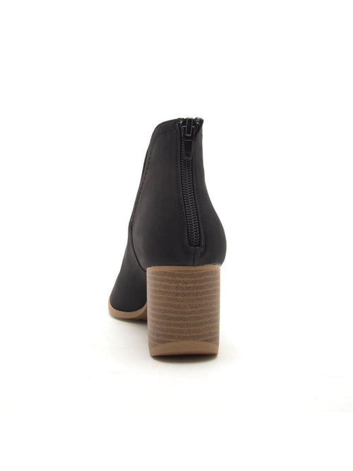 THE CORE OPEN TOE BOOTIE - BLACK