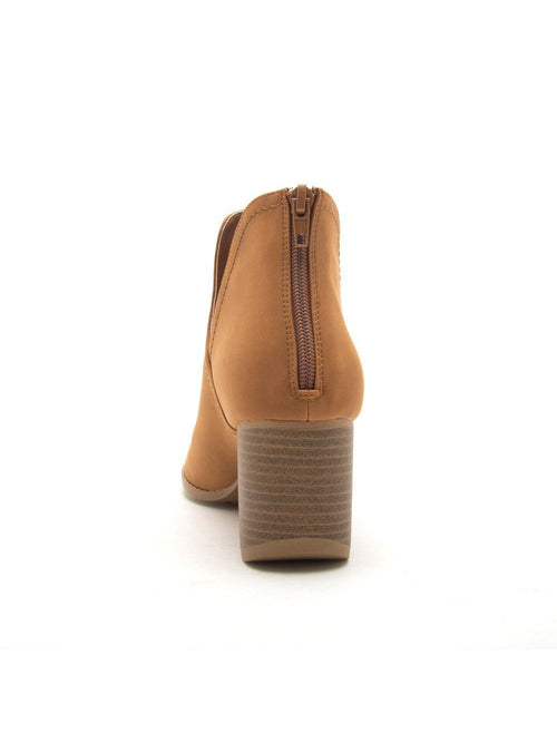 THE CORE OPEN TOE BOOTIE - CAMEL