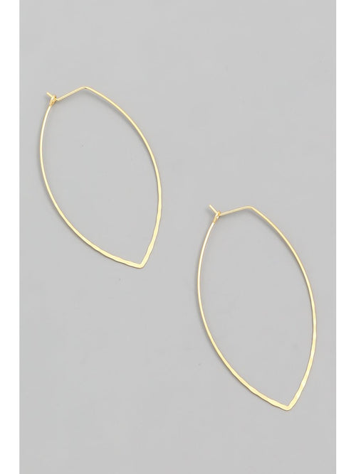 WIRE HOOP EARRINGS - GOLD