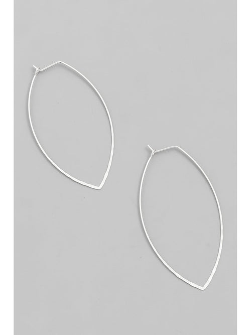 WIRE HOOP EARRINGS - SILVER