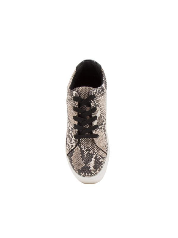 THE ROYAL SNAKESKIN BEIGE/BROWN SNEAKER