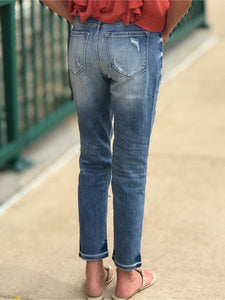 THE KATE DISTRESSED MOM JEANS
