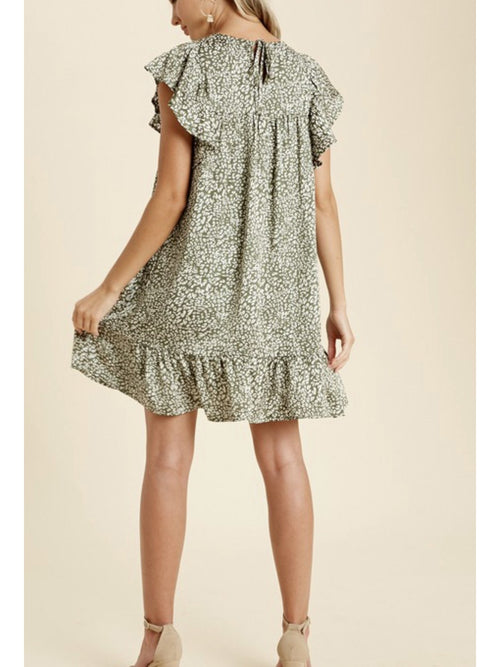 THE CLAIRE FLUTTER SLEEVE DRESS