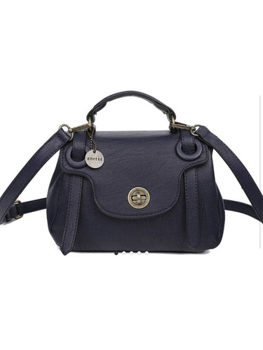 THE LINDA SATCHEL - navy