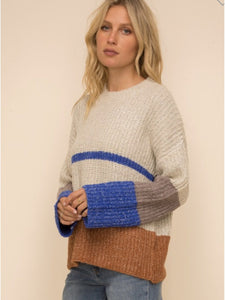 THE CARLIE COLORBLOCK SWEATER