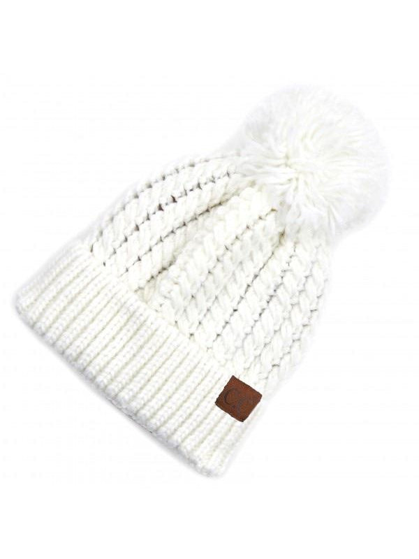 CC TWISTED MOCK CABLE KNIT BEANIE